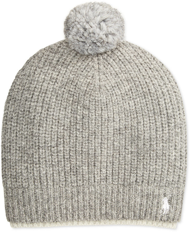 ... Polo Ralph Lauren Two Tone Ribbed Beanie With Pom Pom ... 200c548766d