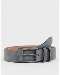 Ted Baker Myke Nubuck Belt In Grey