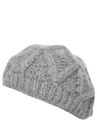 Dorothy Perkins Grey Knitted Beret Hat