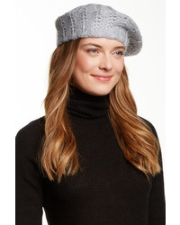 Catherine Malandrino Metallic Detail Knit Beret
