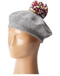 Hat Attack Wool Beret With Multi Confetti Pom Berets