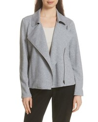Eileen Fisher Organic Cotton Tweed Moto Jacket