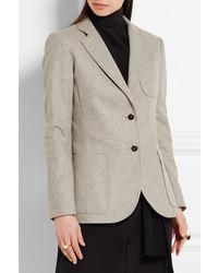 ... Vanessa Seward Abel Wool Blazer Light Gray ...