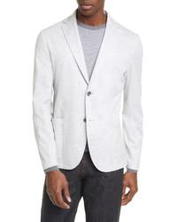 Canali Classic Fit Pinstripe Cotton Linen Knit Sport Coat