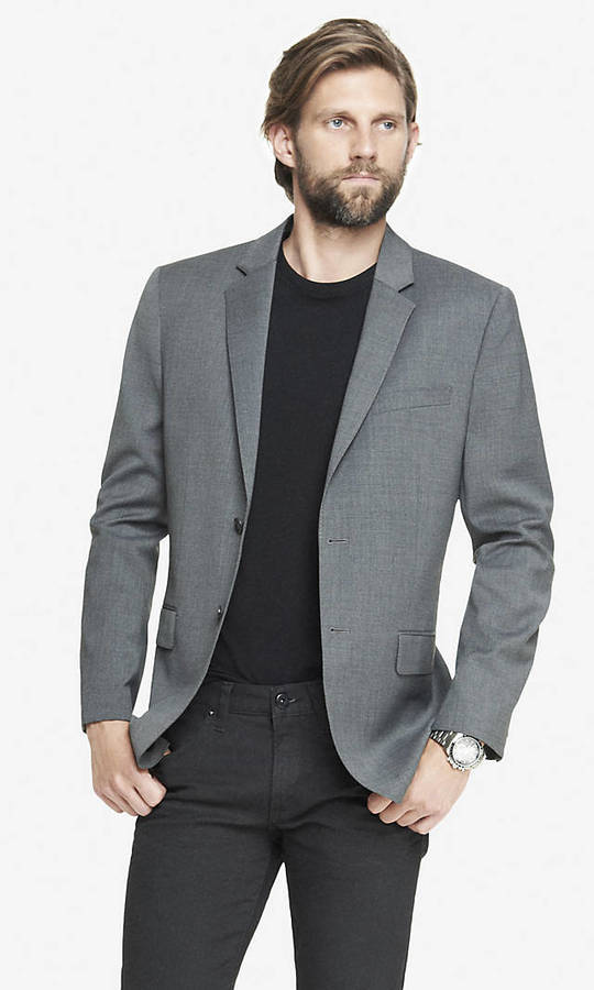 Express Modern Producer Gray Suit Jacket | Where to buy & how to wear