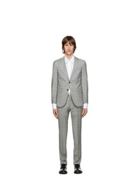 BOSS Grey Checked Novan6 Ben2 Suit