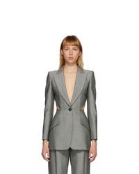 Alexander McQueen Grey Cut Out Blazer