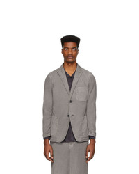 Issey Miyake Men Grey Faded Basic Blazer