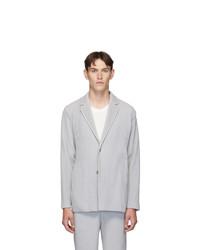 Homme Plissé Issey Miyake Grey Pleated Basics Blazer