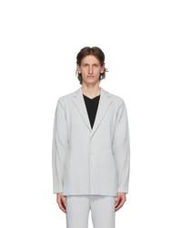 Homme Plissé Issey Miyake Grey Tailored Pleats 2 Blazer