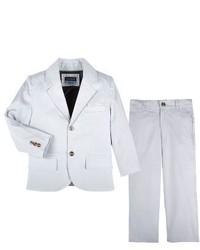 Andy & Evan Infant Boys Chambray Blazer Pants Set