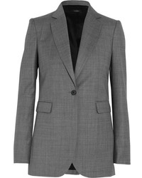 Laurent super 100 wool twill blazer gray medium 3663909