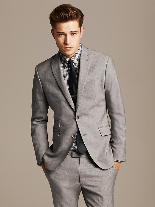 Banana Republic Modern Slim Fit Grey Suit Jacket | Where to buy ...