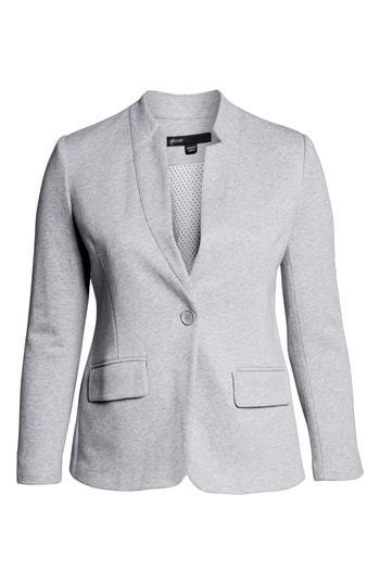 f7708159acb ... Gibson Notch Collar Cotton Blend Blazer