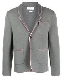 Thom Browne Rwb Stripe Trim Jacket