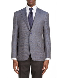 Canali Siena Soft Regular Fit Houndstooth Wool Sport Coat