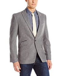 Ben Sherman Slim Fit Brixton Two Button Donegal Blazer With Leather Elbow Patches