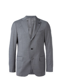 Lardini Three Button Blazer Grey