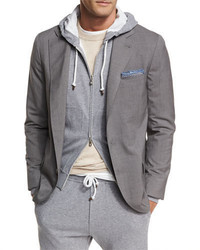 Brunello Cucinelli Three Button Travel Blazer
