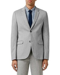 Topman Skinny Fit Marl Jersey Blazer
