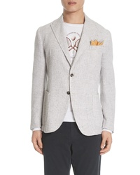Eleventy Trim Fit Plaid Sport Coat