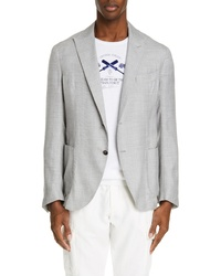 Eleventy Trim Fit Solid Cashmere Blend Sport Coat