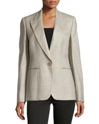 Stella McCartney Wool V Neck Blazer Gray