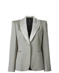 Giorgio Armani Vintage Zig Zag Woven Blazer