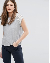 Jack Wills Broderie Yoke Detail Top