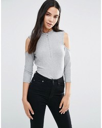 Vero Moda Diana Cold Shoulder 34 Sleeve Top