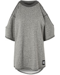Ivy Park Raw Edge Cold Shoulder Sweat Top