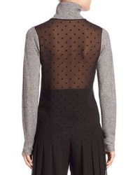 See by Chloe Sheer Back Long Sleeve Top