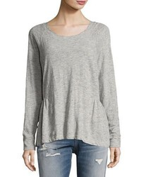 Current/Elliott The Girlie Sweat Top Gray