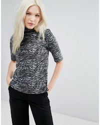 B.young Zebra High Neck Top