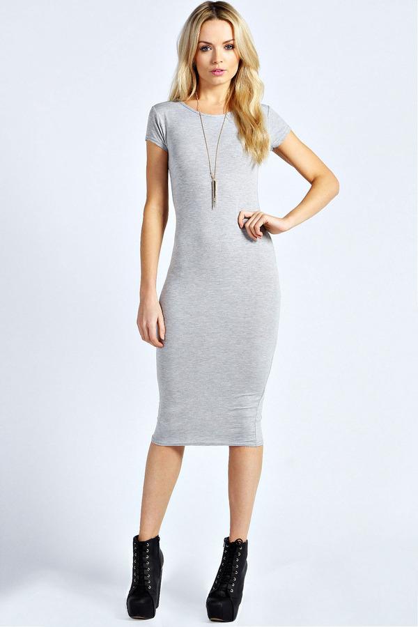 5945c4ccc2c4 Boohoo Lola Cap Sleeve Midi Dress, $26 | BooHoo | Lookastic.com