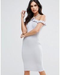 AX Paris Cold Shoulder Frill Detail Midi Dress