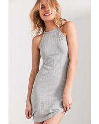 Glamorous High Neck Ribbed Bodycon Dress