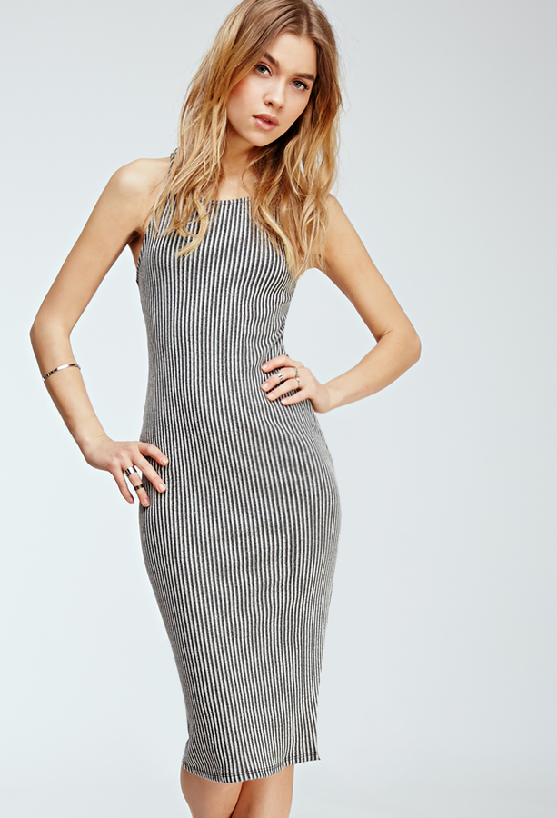 51669d29c Forever 21 Racerback Bodycon Midi Dress, $22 | Forever 21 | Lookastic.com
