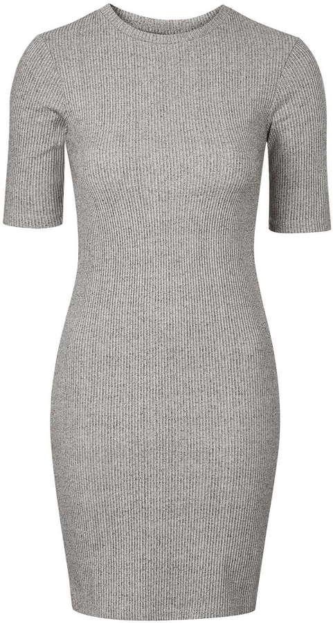 9c44be488a1 Topshop Ribbed Mini Bodycon Dress, $40 | Topshop | Lookastic.com