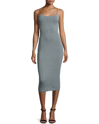 Alexander Wang T By Strappy Stretch Midi Dress Heather Gray