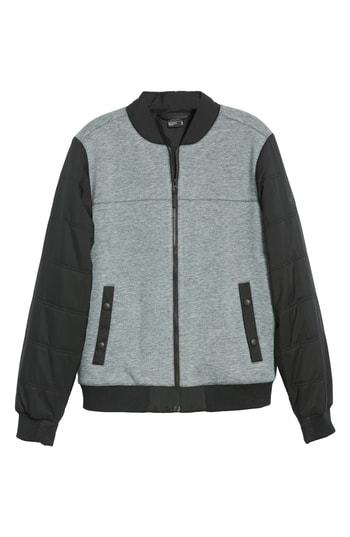 Far Northern Hybrid Bomber Jacket. Grey Bomber Jacket by The North Face e609b36c5