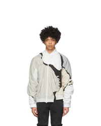 Post Archive Faction PAF Grey And White 30 Left Jacket