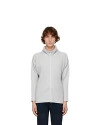 Homme Plissé Issey Miyake Grey Basic Zip Up Jacket