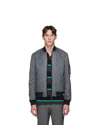 BOSS Grey Quilted Top Dyed Jacket