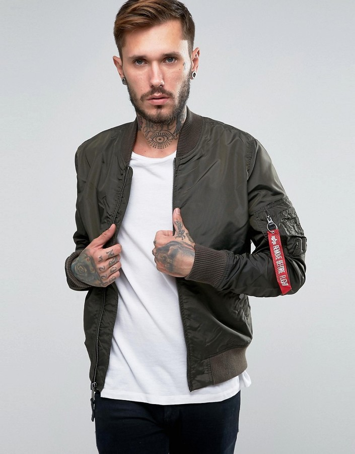 Alpha Industries Ma 1 Bomber Jacket Slim Fit In Gray | Where to ...