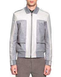 Maison Margiela Mixed Media Bomber Jacket Gray