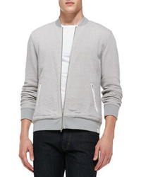 AG Adriano Goldschmied Pique Terry Bomber Jacket Gray