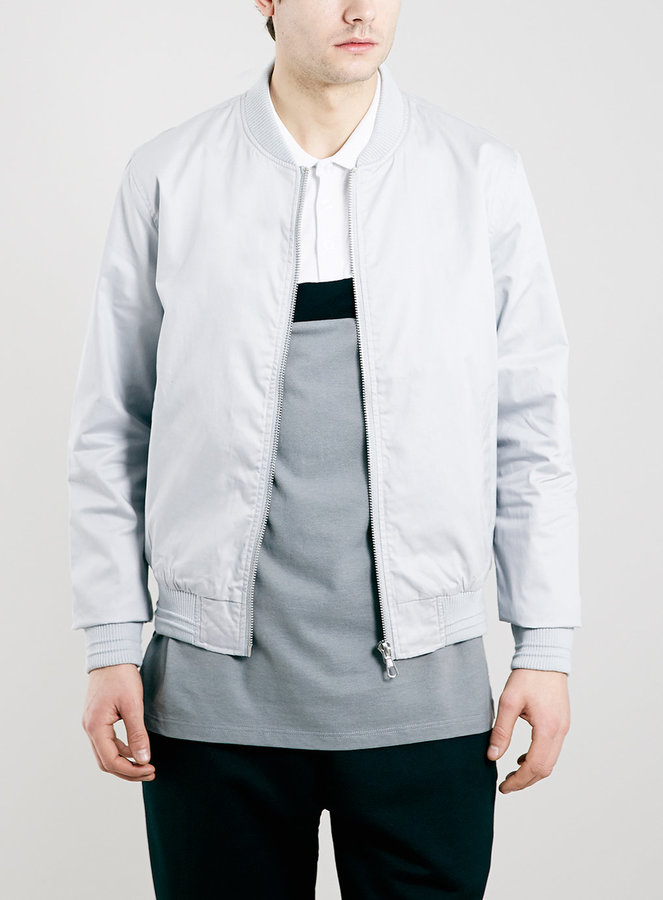 Topman Grey Cotton Bomber Jacket | Where to buy & how to wear
