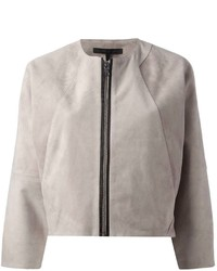Victoria Beckham Denim Cropped Bomber Jacket