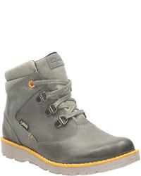 Clarks Infanttoddler Boys Day Hi Gore Tex Boot Toddler Grey Leather Boots